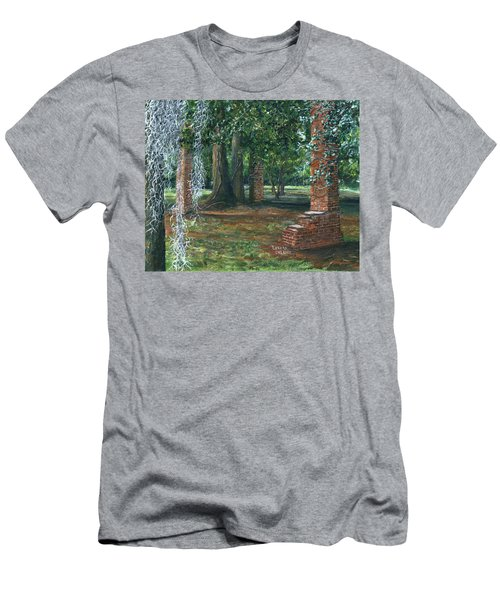 Ardoyne Ruins Near The Mansion, Houma, Louisiana Men's T-Shirt (Athletic Fit)