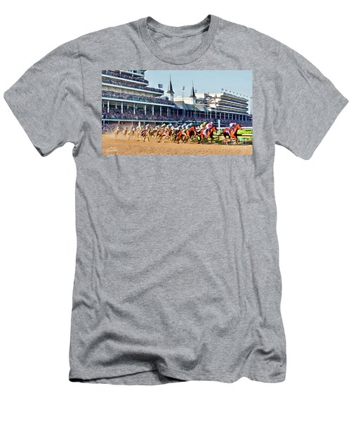 Around The First Turn Men's T-Shirt (Athletic Fit)