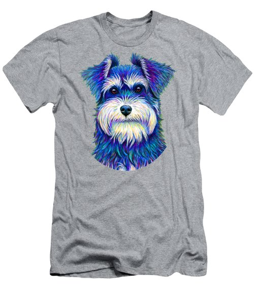 Colorful Miniature Schnauzer Dog Men's T-Shirt (Athletic Fit)