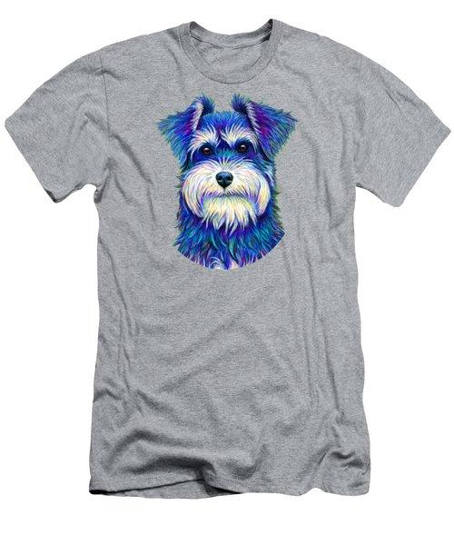 Colorful Miniature Schnauzer Dog Men's T-Shirt (Athletic Fit)