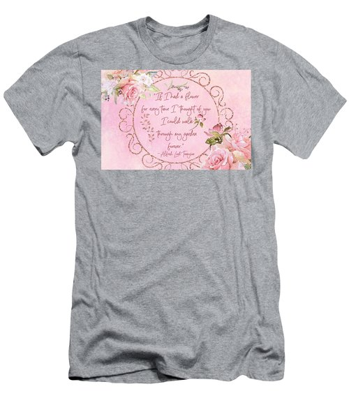 If I Had A Flower Love Artwork Men's T-Shirt (Athletic Fit)