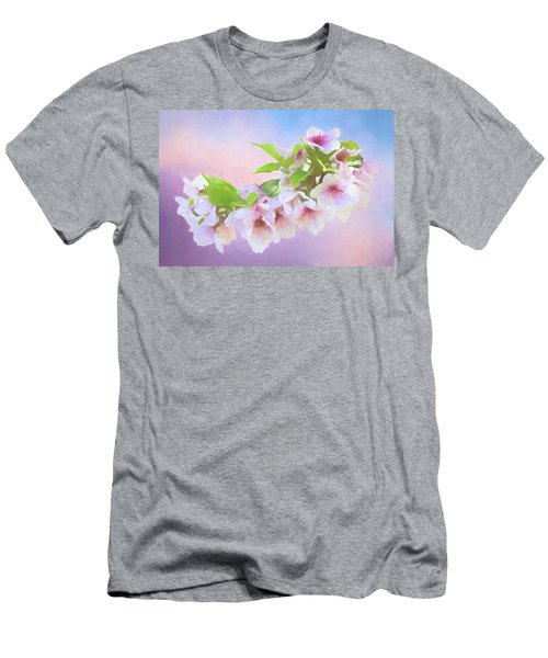Charming Cherry Blossoms Men's T-Shirt (Athletic Fit)