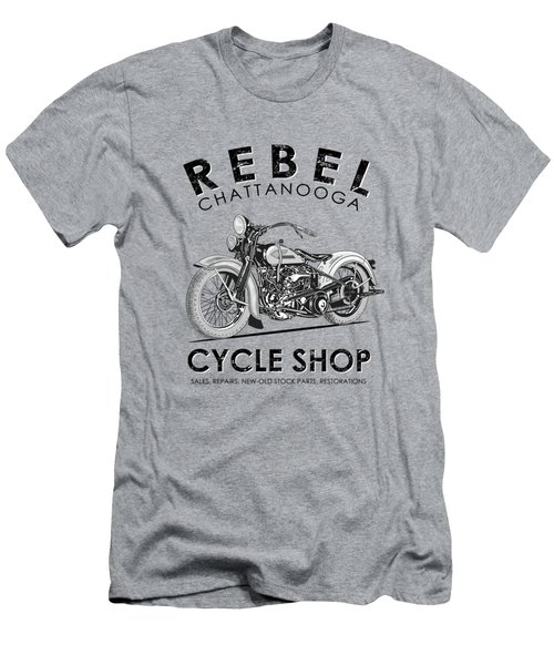 The Rebel Cycle Shop Men's T-Shirt (Athletic Fit)