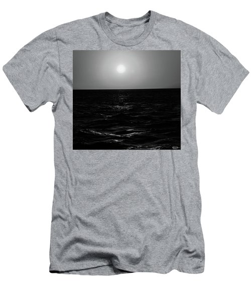 Aruba Sunset In Black And White Men's T-Shirt (Athletic Fit)