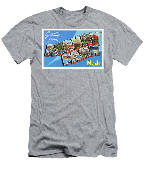 Men's T-Shirt (Athletic Fit) featuring the photograph Asbury Park Greetings #2 by Mark Miller