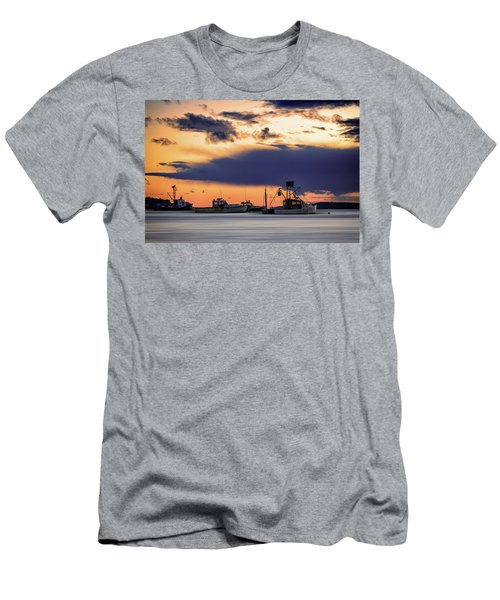 Men's T-Shirt (Athletic Fit) featuring the photograph At Anchor At Lookout Point by Rick Berk
