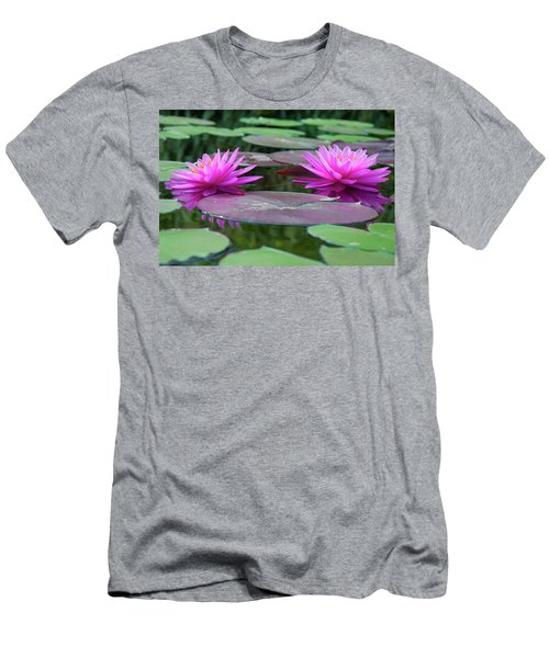 At Longwood Gardens - Water Lillies  Men's T-Shirt (Athletic Fit)