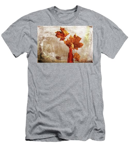 Men's T-Shirt (Athletic Fit) featuring the photograph Atumn In A Vase by Randi Grace Nilsberg