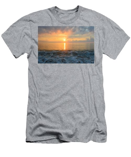 Men's T-Shirt (Athletic Fit) featuring the photograph August Obx Sunrise by Barbara Ann Bell