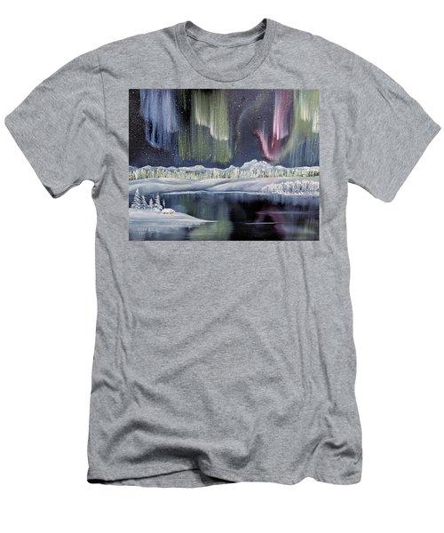 Aurora Borealis Men's T-Shirt (Athletic Fit)