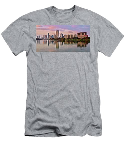 Austin River Walk Sunset Men's T-Shirt (Athletic Fit)