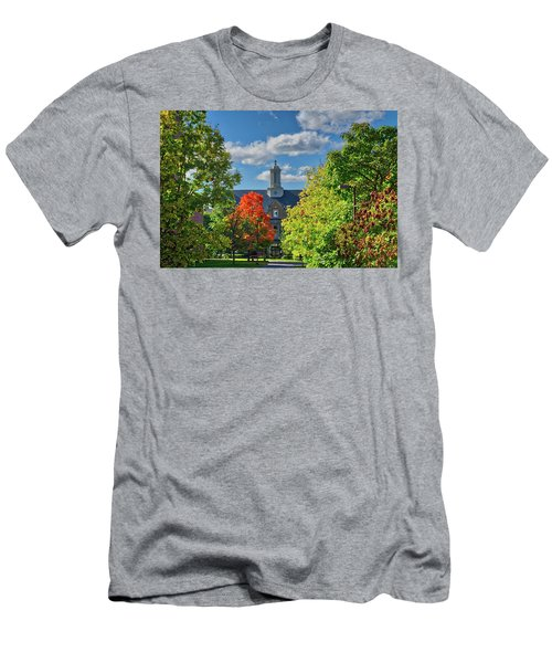 Men's T-Shirt (Athletic Fit) featuring the photograph Autumn Beauty At Cornell University - Ithaca, New York by Lynn Bauer