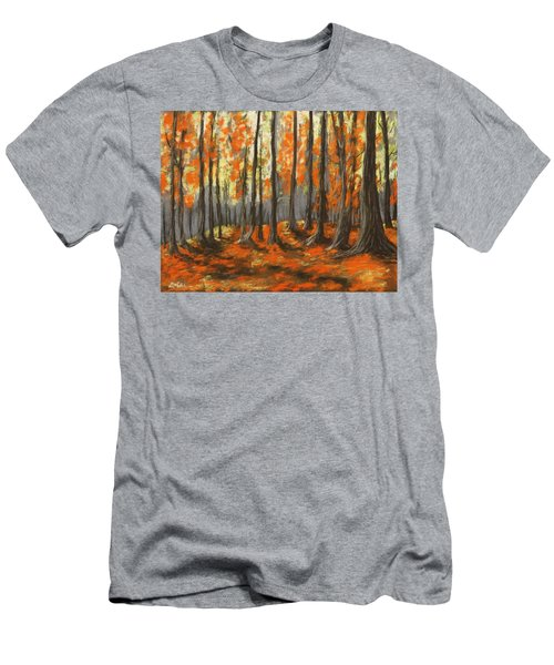 Men's T-Shirt (Athletic Fit) featuring the painting Autumn Forest by Anastasiya Malakhova
