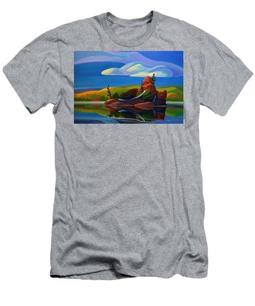 autumn Island Men's T-Shirt (Athletic Fit)