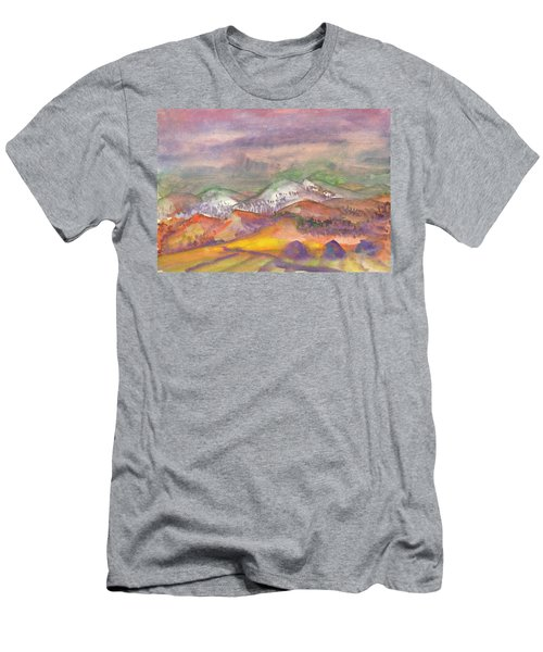 Autumn Landscape In Cloudy Weather Men's T-Shirt (Athletic Fit)