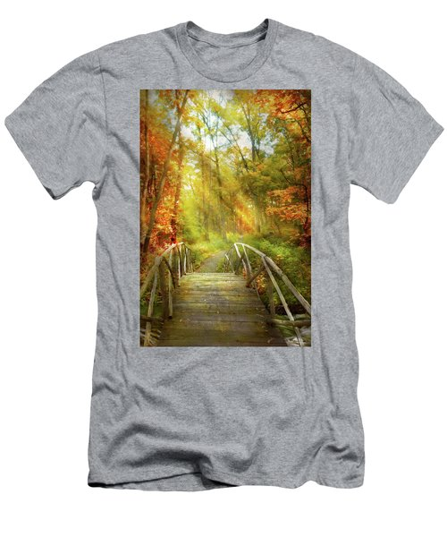 Men's T-Shirt (Athletic Fit) featuring the photograph Autumn - Nice Day For A Walk by Mike Savad