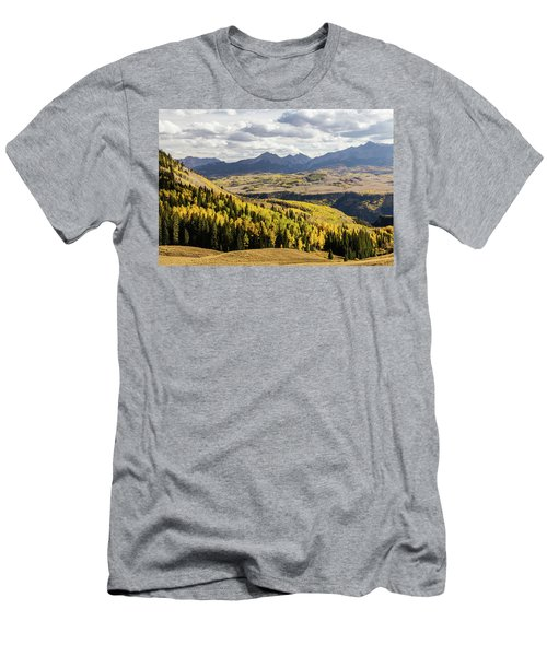 Men's T-Shirt (Athletic Fit) featuring the photograph Autumn Season View Of Sneffles Ten Peak by James BO Insogna