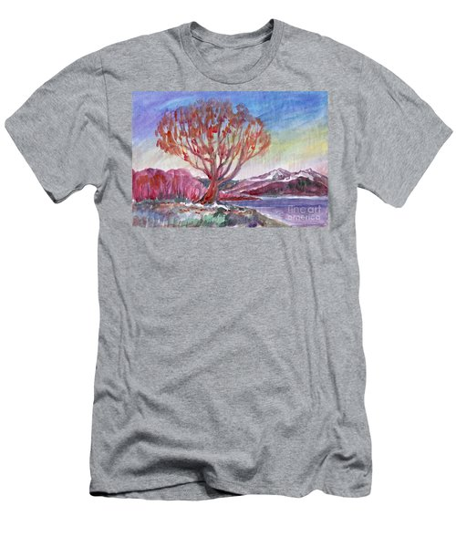 Autumn Tree By The River Men's T-Shirt (Athletic Fit)