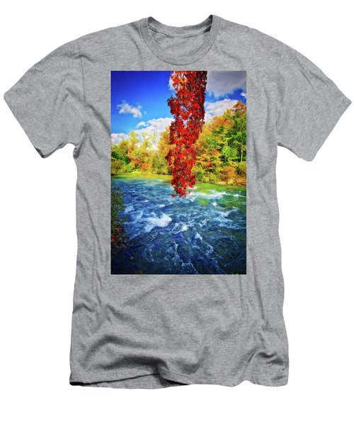 Men's T-Shirt (Athletic Fit) featuring the photograph Autumn's Flame - Niagara Falls, New York by Lynn Bauer