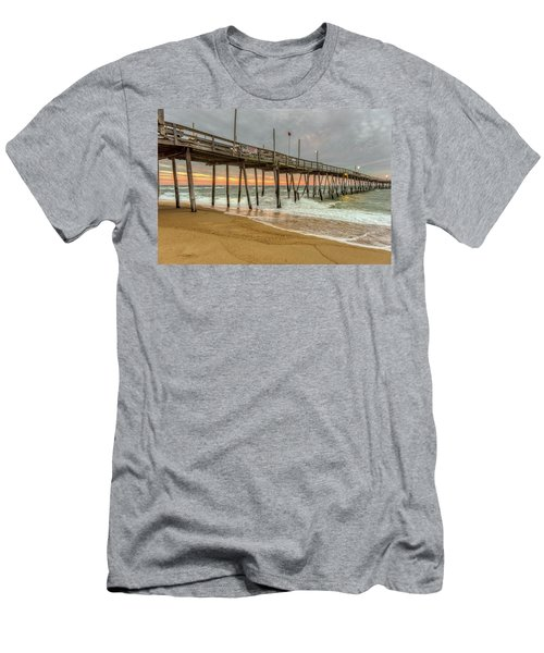 Avalon Pier - Kill Devil Hills Nc Men's T-Shirt (Athletic Fit)