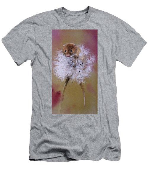 Baby Mouse On Dandelion Men's T-Shirt (Athletic Fit)