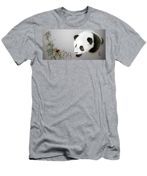 Baby Panda - Explorer Men's T-Shirt (Athletic Fit)