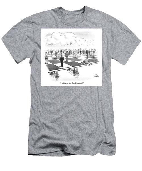 Backgammon Men's T-Shirt (Athletic Fit)