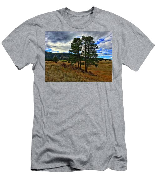 Men's T-Shirt (Athletic Fit) featuring the photograph Backlit Pine by Dan Miller