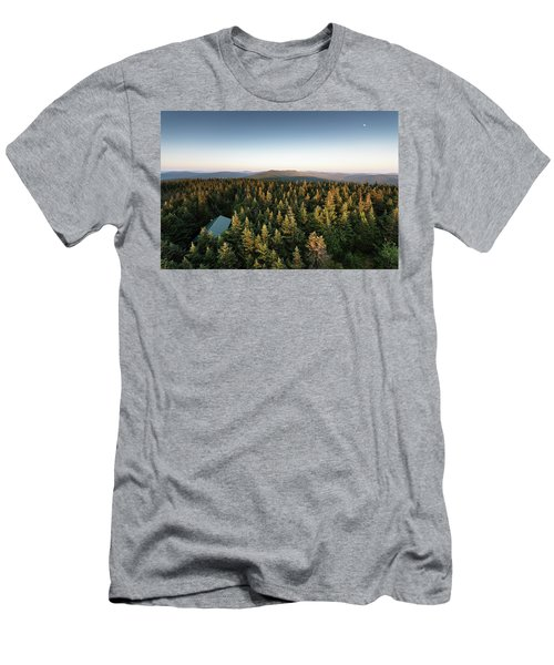 Balsam Lake Mountain Sunset Moon Men's T-Shirt (Athletic Fit)