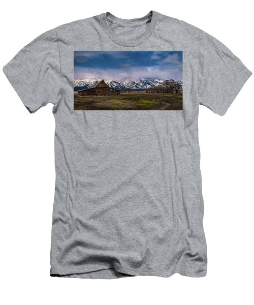 Barn At Mormon Row Men's T-Shirt (Athletic Fit)