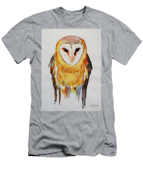 Barn Owl Drip Men's T-Shirt (Athletic Fit)