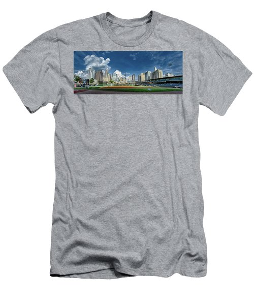 Bbt Baseball Charlotte Nc Knights Baseball Stadium And City Skyl Men's T-Shirt (Athletic Fit)