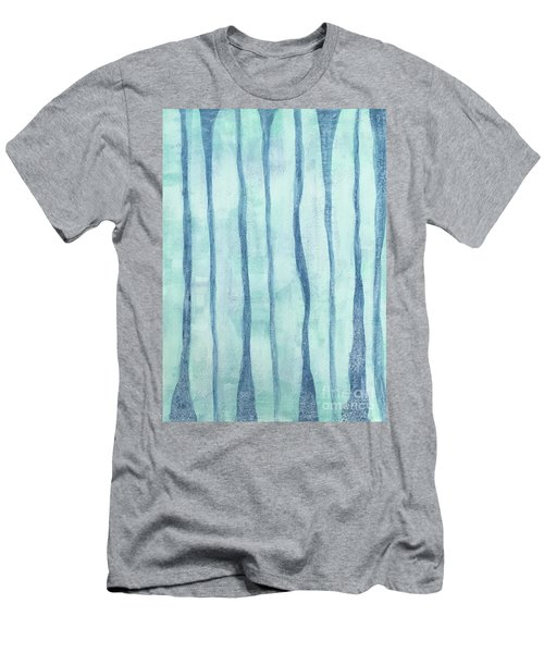 Beach Collection Beach Water Lines 2 Men's T-Shirt (Athletic Fit)