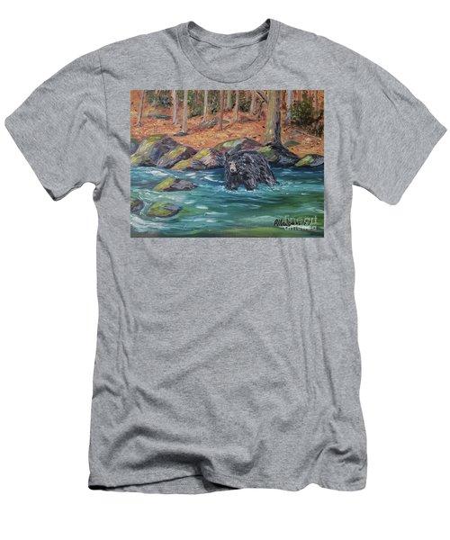 Bear Crossing Men's T-Shirt (Athletic Fit)