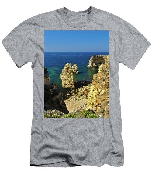 Beautiful Marinha Beach From The Cliffs Men's T-Shirt (Athletic Fit)