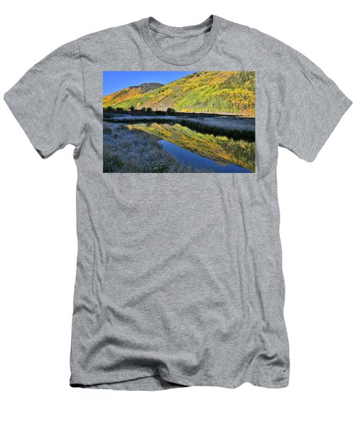 Beautiful Mirror Image On Crystal Lake Men's T-Shirt (Athletic Fit)