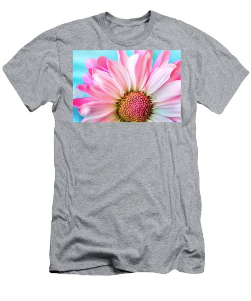 Beautiful Pink Flower Men's T-Shirt (Athletic Fit)
