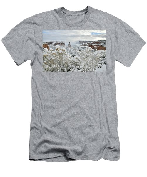 Beautiful Snow Morning Along Rim Rock Drive Men's T-Shirt (Athletic Fit)