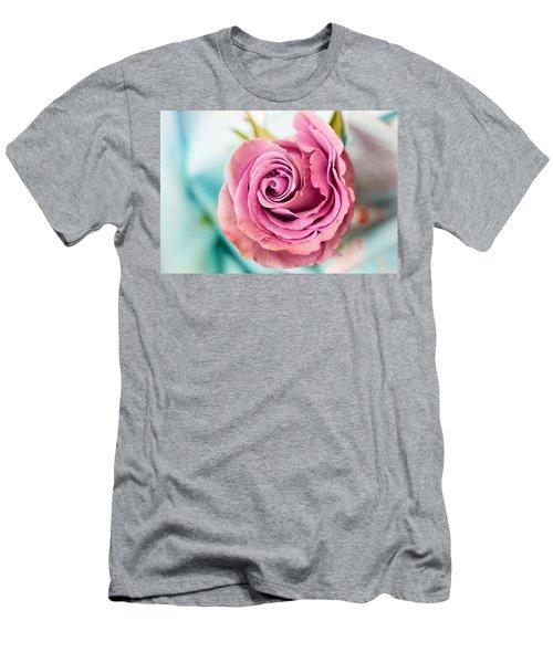 Beautiful Vintage Rose Men's T-Shirt (Athletic Fit)