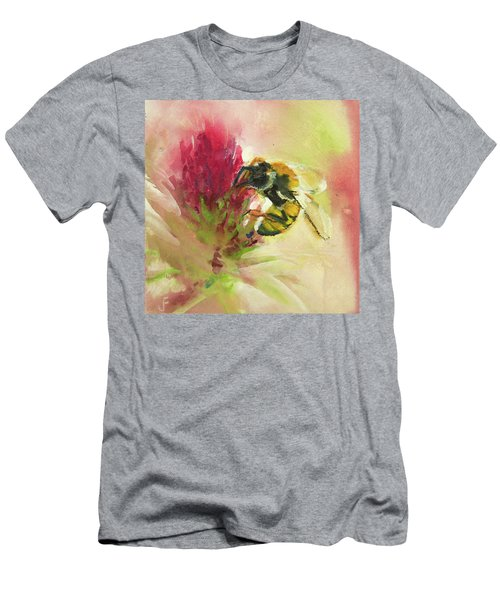 Bee On Clover Men's T-Shirt (Athletic Fit)