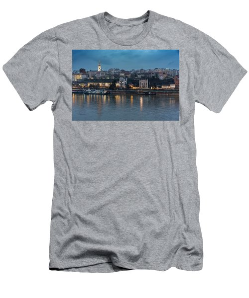 Belgrade Skyline And Sava River Men's T-Shirt (Athletic Fit)