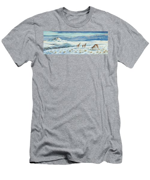 Belt Butte Winter Men's T-Shirt (Athletic Fit)