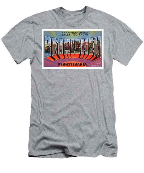 Men's T-Shirt (Athletic Fit) featuring the photograph Bethlehem Greetings by Mark Miller