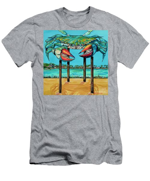 Big Blue Crab Rockport Men's T-Shirt (Athletic Fit)