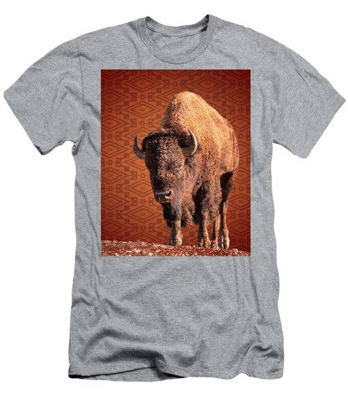 Bison Blanket Men's T-Shirt (Athletic Fit)