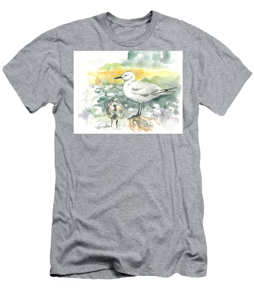 Black-billed Gull Family Men's T-Shirt (Athletic Fit)