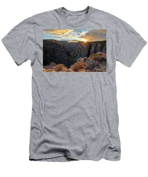 Men's T-Shirt (Athletic Fit) featuring the photograph Black Canyon Sendoff by Angela Moyer