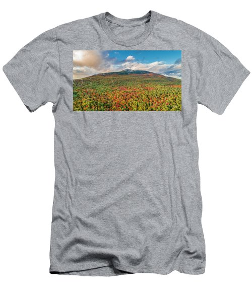 Men's T-Shirt (Athletic Fit) featuring the photograph Blanketed In Color by Michael Hughes