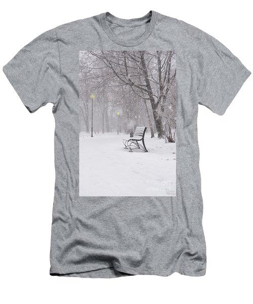 Blizzard In The Park Men's T-Shirt (Athletic Fit)