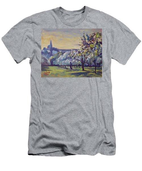 Blossom Trees Near Vijlen Men's T-Shirt (Athletic Fit)